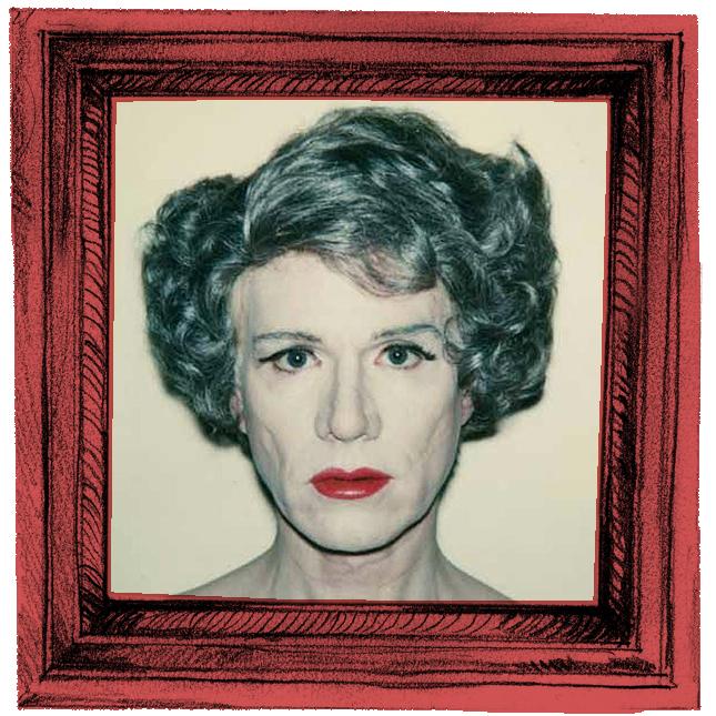Andy Warhol Autorretrato em Drag. Polaroid (1980)