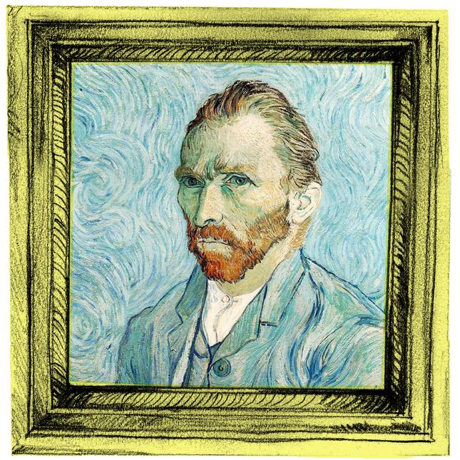Mr. Van Gogh, ruivo e brando, no retrato de si mesmo, em 1889.