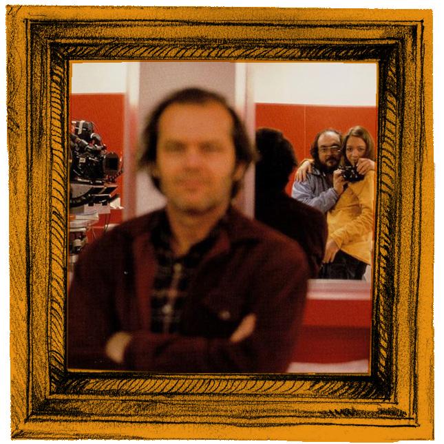 Autorretrato de Kubrick, retrato de Jack Nicholson, ou ainda: retrato de Jack Torrance, de O Iluminado.