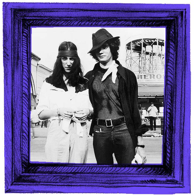 Patti Smith de  Robert Mapplethorpe e Robert Mapplethorpe de Patti Smith - retrato tirado com câmera escura, em Coney Island, 1969.