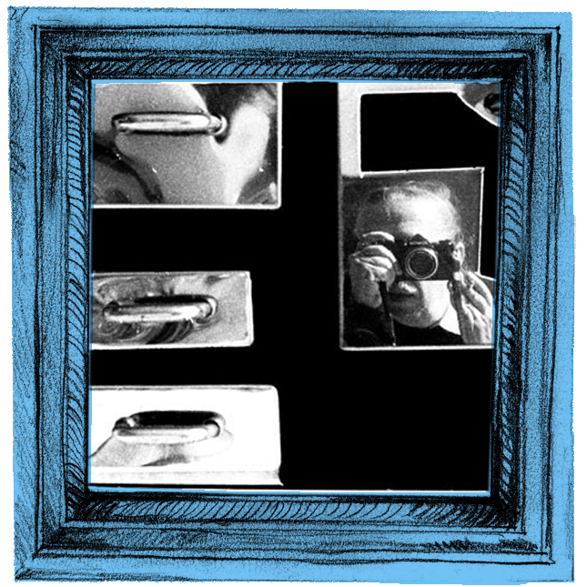 """Autorretrato, de Geraldo de Barros (1923-1998). Série """"Sobras"""" (1998-1996)"""